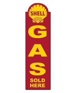 Shell Gas Sold Here, Featured Artists/Shell, Plasma, 8 X 30 Inches