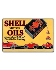 Shell Motor Oils Trouble Free Motoring, Featured Artists/Shell, Satin, 18 X 12 Inches