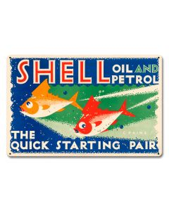 The Quick Starting Pair Shell Oil Fish, Featured Artists/Shell, Satin, 18 X 12 Inches