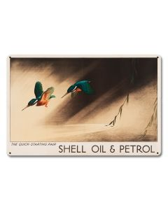 The Quick Starting Pair Shell Oil Hummingbirds, Featured Artists/Shell, Satin, 18 X 12 Inches