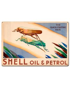 The Quick Starting Pair Shell Oil Grasshoppers, Featured Artists/Shell, Satin, 36 X 24 Inches