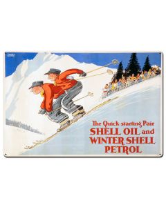 The Quick Starting Pair Shell Oil Ski, Featured Artists/Shell, Satin, 36 X 24 Inches
