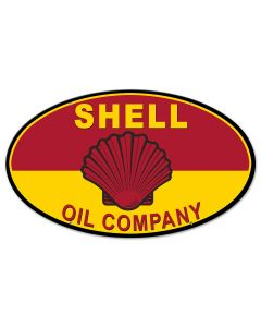 Shell Oil Company, Featured Artists/Shell, Oval, 24 X 14 Inches