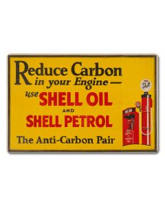 Reduce Carbon Shell Oil Petrol, Featured Artists/Shell, Satin, 18 X 12 Inches