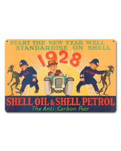 Shell Oil Petrol Fight Carbon Anti-Carbon Pair, Featured Artists/Shell, Satin, 18 X 12 Inches