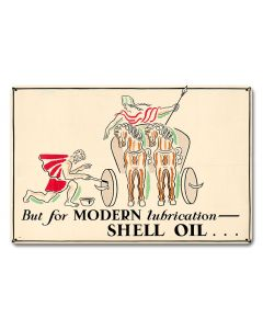 But Modern Lubrication Shell Oil, Featured Artists/Shell, Satin, 18 X 12 Inches