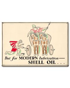 But Modern Lubrication Shell Oil, Featured Artists/Shell, Satin, 24 X 16 Inches