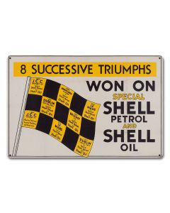 Won On Shell Petrol Oil, Featured Artists/Shell, Satin, 18 X 12 Inches