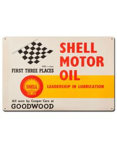 Shell Motor Oil First Three Places, Featured Artists/Shell, Satin, 24 X 16 Inches