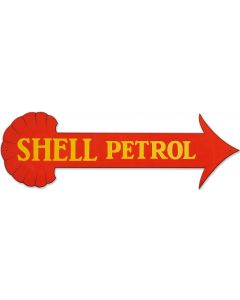 Shell Petrol Arrow, Featured Artists/Shell, Plasma, 31 X 11 Inches