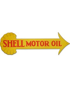 Shell Motor Oil Arrow, Featured Artists/Shell, Plasma, 31 X 10 Inches