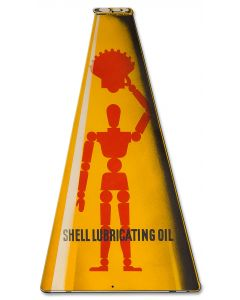Shell Lubricating Oil Can, Featured Artists/Shell, Plasma, 23 X 12 Inches