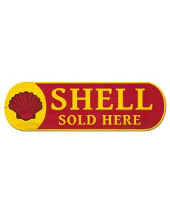 Shell Sold Here Grunge, Featured Artists/Shell, Plasma, 27 X 8 Inches