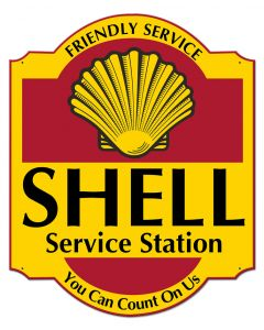 Friendly Service Shell Service Station, Featured Artists/Shell, Plasma, 30 X 24 Inches