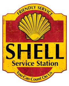 Friendly Service Shell Service Station Grunge, Featured Artists/Shell, Plasma, 30 X 24 Inches