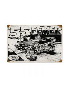 55 Fever, Automotive, Vintage Metal Sign, 12 X 18 Inches