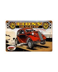 Lions Color, Automotive, Vintage Metal Sign, 18 X 12 Inches