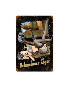 Schmeisser Tiger, Axis Military, Vintage Metal Sign, 12 X 18 Inches
