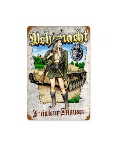 Wehrmacht, Axis Military, Vintage Metal Sign, 12 X 18 Inches