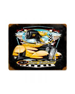 Bee Gee Roadster, Automotive, Vintage Metal Sign, 14 X 11 Inches