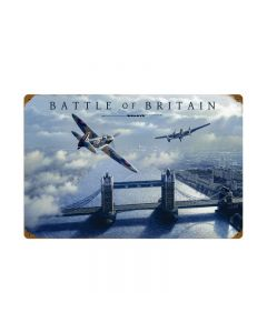 Battle of Britian, Aviation, Vintage Metal Sign, 24 X 16 Inches