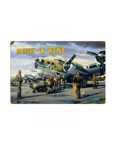 Nine O Nine, Aviation, Vintage Metal Sign, 24 X 16 Inches