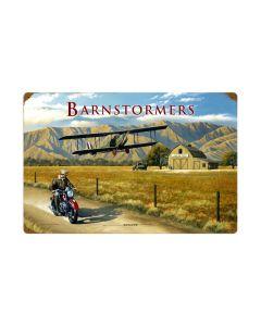 Barnstormer, Aviation, Vintage Metal Sign, 24 X 16 Inches