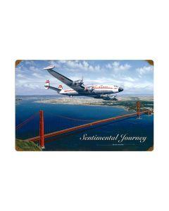 Sentimental Journey, Aviation, Vintage Metal Sign, 24 X 16 Inches