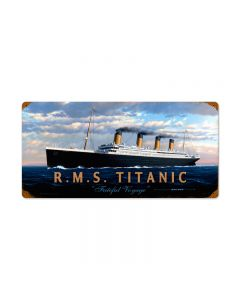 RMS Titanic, Allied Military, Vintage Metal Sign, 24 X 14 Inches