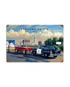 Welcome to LA, Automotive, Vintage Metal Sign, 24 X 16 Inches