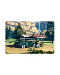 Yosemite Gas, Automotive, Vintage Metal Sign, 24 X 16 Inches