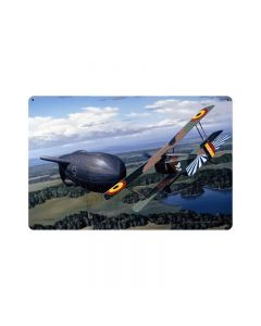 Balloon Buster, Aviation, Vintage Metal Sign, 18 X 12 Inches