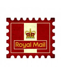 Royal Mail, Home and Garden, Stamp Metal Sign, 18 X 15 Inches