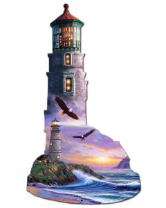 Lighthouse Puzzle, Featured Artists/Shell, PLASMA , 12 X 20 Inches