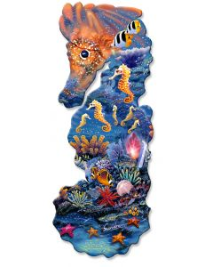 Seahorse Shape, Featured Artists/Shell, PLASMA , 14 X 34 Inches