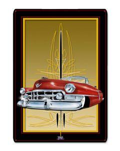 50 Cadi Red, Featured Artists/Tony's Pinstriping, Satin, 12 X 18 Inches