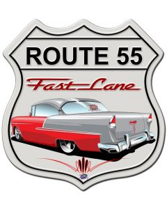 Classic Car Shield, Featured Artists/Tony's Pinstriping, SATIN SHIELD METAL SIGN , 15 X 15 Inches