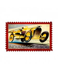 Indy 500, Automotive, Custom Metal Shape, 24 X 15 Inches