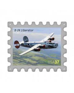B24 Liberator, Aviation, Stamp Metal Sign, 16 X 13 Inches