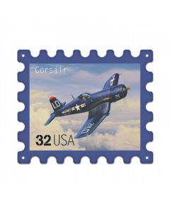 Corsair, Aviation, Stamp Metal Sign, 16 X 13 Inches
