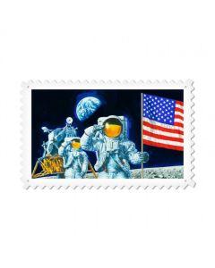 Man on the Moon, Aviation, Custom Metal Shape, 24 X 15 Inches