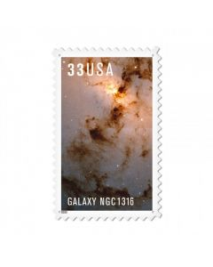 Galaxy NGC1316, Aviation, Custom Metal Shape, 15 X 24 Inches