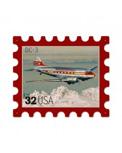 Western DC3, Aviation, Custom Metal Shape, 16 X 13 Inches