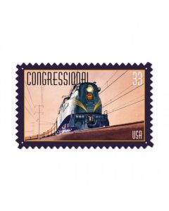 Congressional Train, Train and Rail, Custom Metal Shape, 24 X 14 Inches