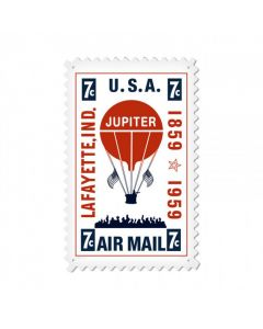 Air Mail Balloon, Aviation, Custom Metal Shape, 15 X 24 Inches