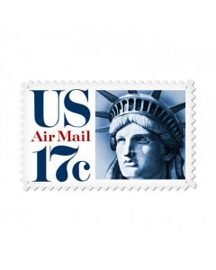 Air Mail Liberty, Aviation, Custom Metal Shape, 24 X 15 Inches
