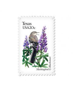 Texas Mockingbird, Home and Garden, Vintage Metal Sign, 15 X 24 Inches