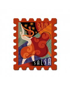 Dance Salsa, Home and Garden, Stamp Metal Sign, 15 X 19 Inches