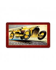 Indianapolis 500, Automotive, Metal Sign, 14 X 8 Inches