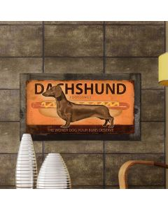 Dachshund, Wiener Dog, METAL Sign, Optional Reclaimed BarnWood Frame, American Steel, Wall Decor, Wall Art